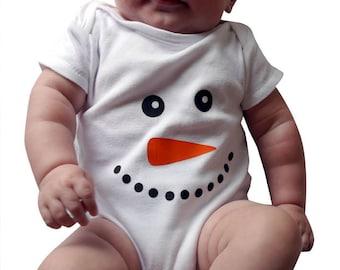 Christmas Snowman Baby Vest / Baby Grow