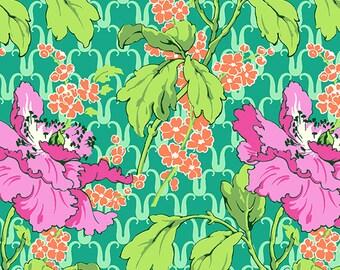 Field Poppy Floral in Rose Amy Butler Violette Free Spirit Cotton Fabric per fat quarter per metre FQ