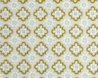 Porch Tile Moroccan Mustard Cotton Fabric from Honeymoon collection Cotton & Steel by Sarah Watts per fat quarter per metre