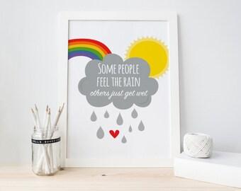 Feel The Rainbow Print