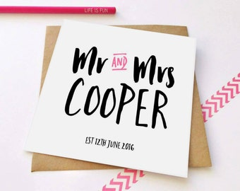 Personalised Wedding Card, Personalized Wedding Card