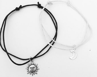 Sun and Moon Anklet Set
