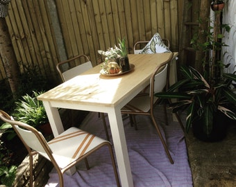 Vintage industrial Midcentury dining  modern dining table and chairs