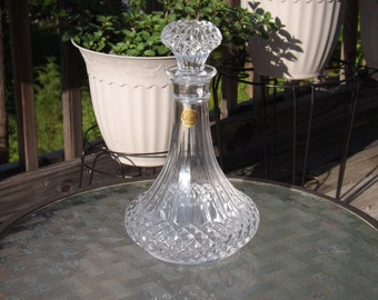 Vintage Crystal d'Argues Liquor Decanter; Never Used, Rare, Bargain