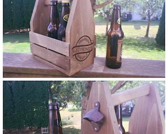 Vintage Wooden Beer Carrier