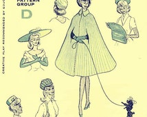 PDF Instant Download Vintage Sewing Pattern to make Clothes Accessories for Teenage Dolls like Barbie: Cape Tam Jockey Cap Bag, Gloves Shoe