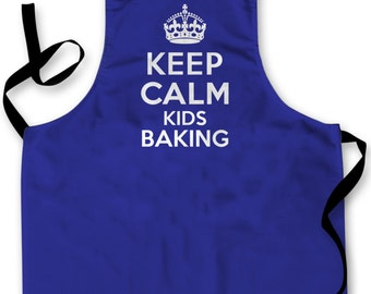 Keep Calm Kids Baking Design Childrens Apron Baking Cooking Painting Water Play Arts & Crafts Made In Yorkshire