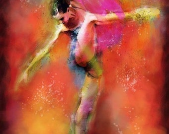 Decorative Art Ballerina's dance Oil Painting figure Impressionism Wall decor Wall art wall hangings