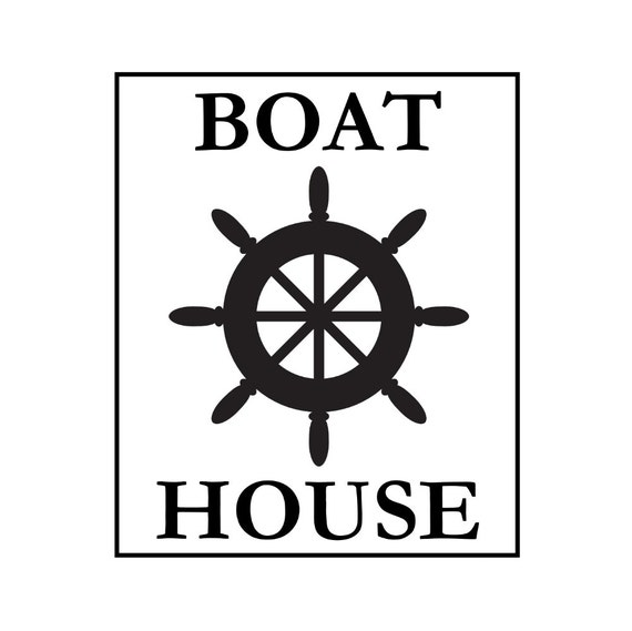 sign stencil - boat house - 10 x 12 stencil