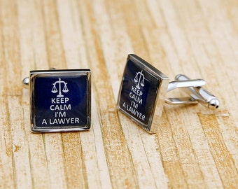 Keep Calm I'M A Lawyer Career Law Justice Cufflinks Gift
