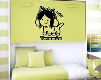 Wall Decal, Window Decal, Car Decals...  Undertale. Temmie.  Home Decor