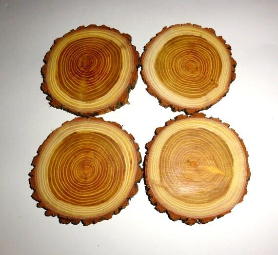 Fette sottobicchieri legno dischi di legno naturale di for Dischi di legno