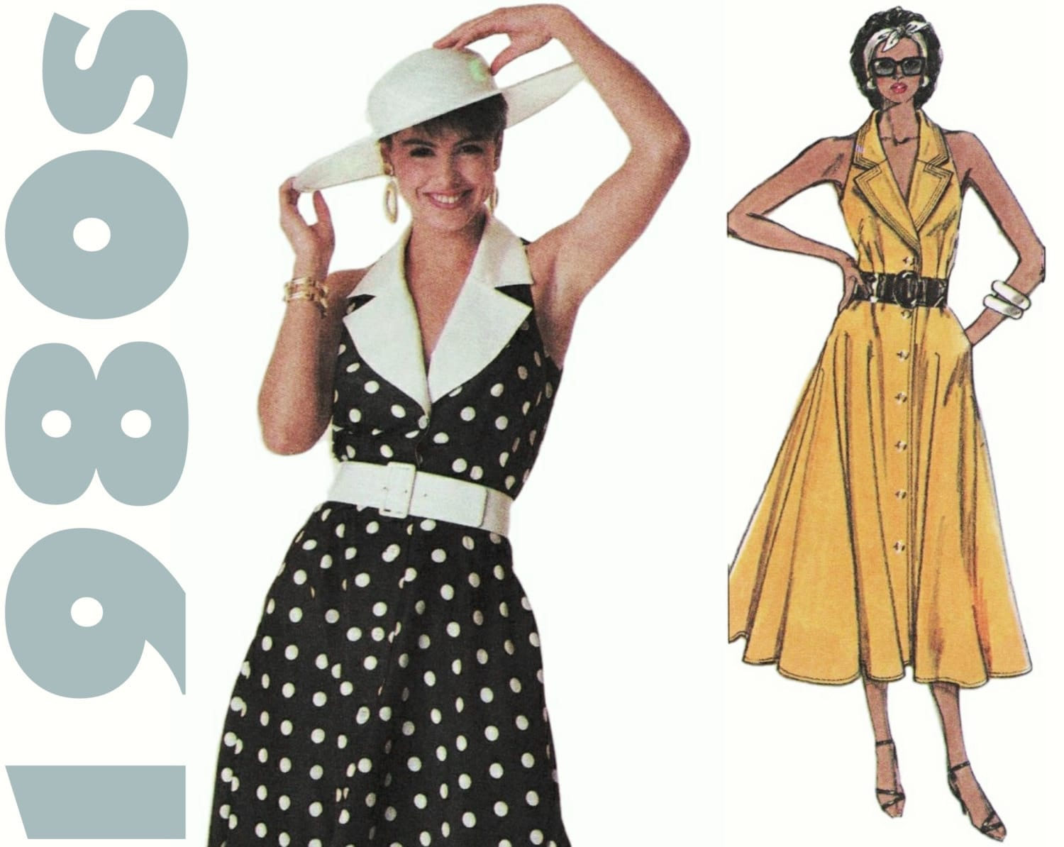 Pictures of summer dresses 80s