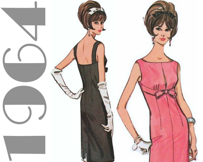 1960s Dress Pattern Mccalls 7327 Sz 14 B 34 Sheath Dress