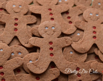 Felt Gingerbread Men, Christmas Decoration Packs, Ginger Bread Man, Christmas Shapes, Pretty Die Cut Christmas Craft Embellishments