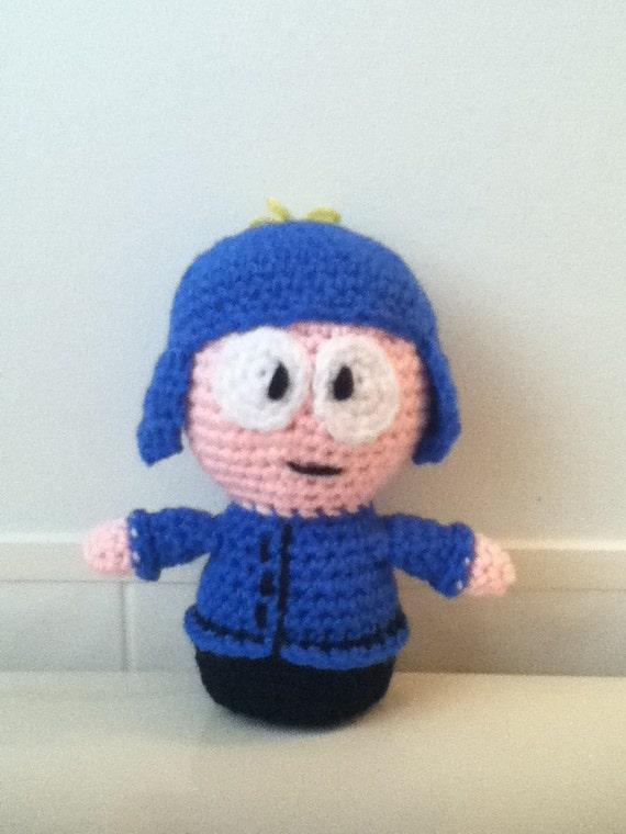 Amigurumi Earflap Hat : Made to Order: Crochet Amigurumi Little Boy with Blue Ear Flap