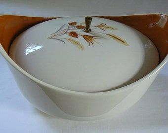 Vintage Taylor Smith & Taylor Autumn Harvest Casserole Dish, Ever Yours Covered Casserole Dish