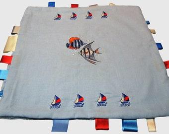 Doudou PIRATE custom embroidery