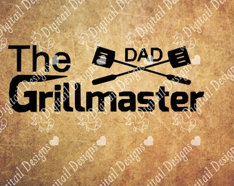 The Grill Masterl Svg Dxf PNG Fcm Eps Ai Cut file For Silhouette Cut File for Cricut. Camping svg, BBQ Svg DAD Svg