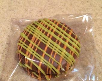 Chocolate Covered Oreo's- Two Color- One Dozen-Milk Chocolate