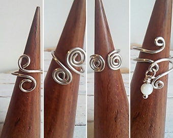 Silver Toe Ring Set of Four