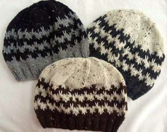 Man's Knit Hat/ Man's Knit Beanie/ Boys Knit Hat/ Boys Knit Beanie