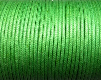 100 meter cotton cord 1.5mm green CH0100