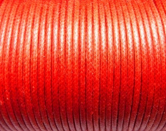 100 meters cotton cord 1.5mm red CH0100