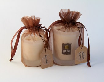 Chocolate Natural Soy Wax Candle Rhode Island Orla Soy Candle Eco Friendly Hand Poured