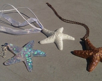 Resin Starfish Necklaces