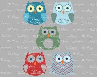Owl Bundle SVG DXF EPS, owl svg, owl design, owl monogram svg, svg cutting file for Cricut, Silhouette, owl file, owl svg design