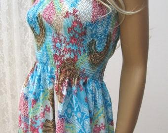 MAXI TUBE strapless dress, Ethnic, Folk, hippie bohemian