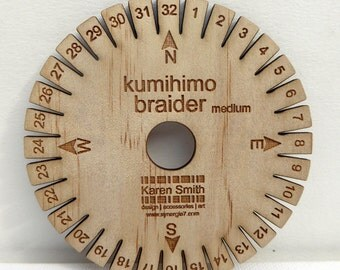 Kumihimo braider disk (medium), for use with 1.5mm - 2mm cord