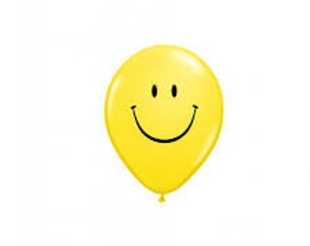 Smiley Face Balloons, Happy Face Balloons, Yellow Smiley Face Balloons for Birthday Party, Kids Party, 80s Party, Party Balloons