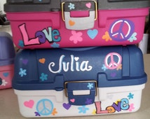 PERSONALIZED STORAGE Boxes * Nail Polish, Jewelry, Rainbow Loom, Crafts & More! ** YOU Pick Design ~ Makes a Great Gift
