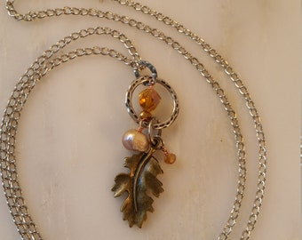 Leaf Charm Necklace
