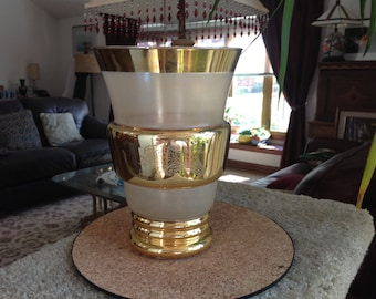 Vintage Gold Plated and Glass Vase