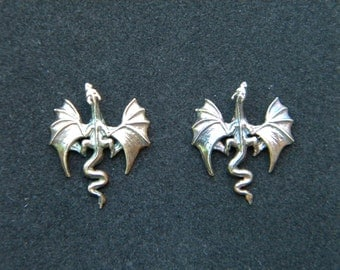 Dragon Earrings: Sterling Silver Earrings