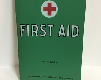 Vintage First Aid Textbook/ Vintage Book/ Vintage First Aid