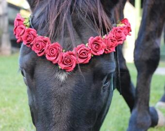 V  Rose Horse Browband