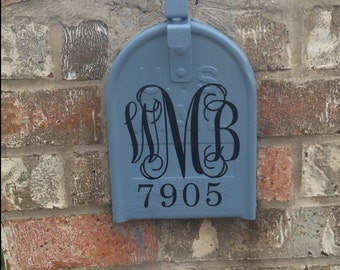 Mailbox Decal | Personalized Mailbox Decal | Monogrammed Mailbox Decal | Monogrammed Mailbox Vinyl | Preppy Mailbox Decal | Mailbox Monogram