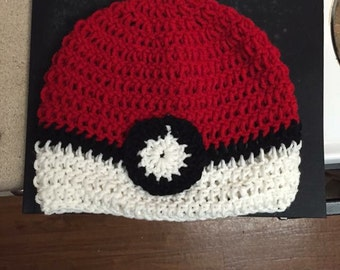 Pokeball Beanie...pokemon go.. Pokemon