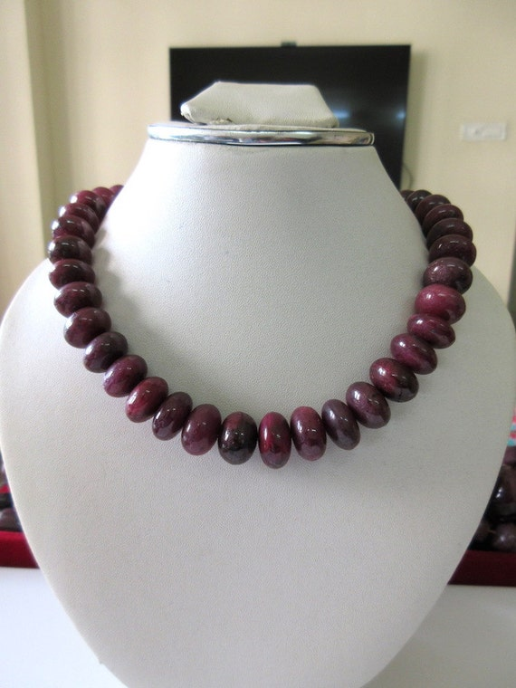 Natural Ruby Smooth Rondelle Beads, Ruby Bead Necklace ... - photo #26