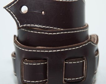Handmade Custom Adjustable Leather Guitar Strap