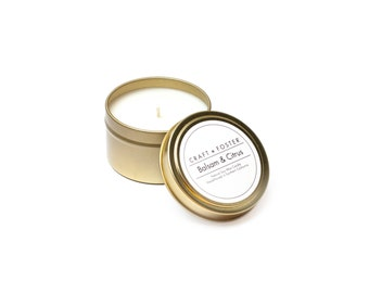 Balsam & Citrus Natural Soy Wax Candle - 6oz Tin