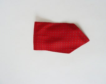 Red put a scarf for men, Steckschal, vintage silk scarf, tie