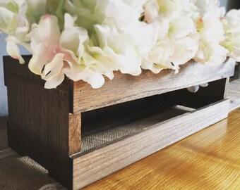 Wooden Crate Centerpiece