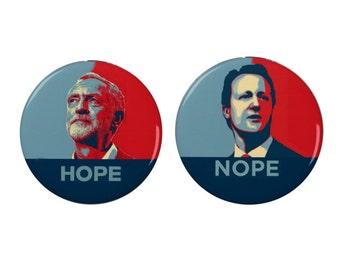 Jeremy Corbyn Support Badge/Magnet  - David Cameron Protest Badge/Magnet - Anti War - Activism - Political - Stand With Jeremy