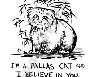 "Motivational Pallas Cat - 11 x 14"" Print"