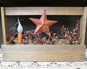 Barn Star Carry All with LED Candle